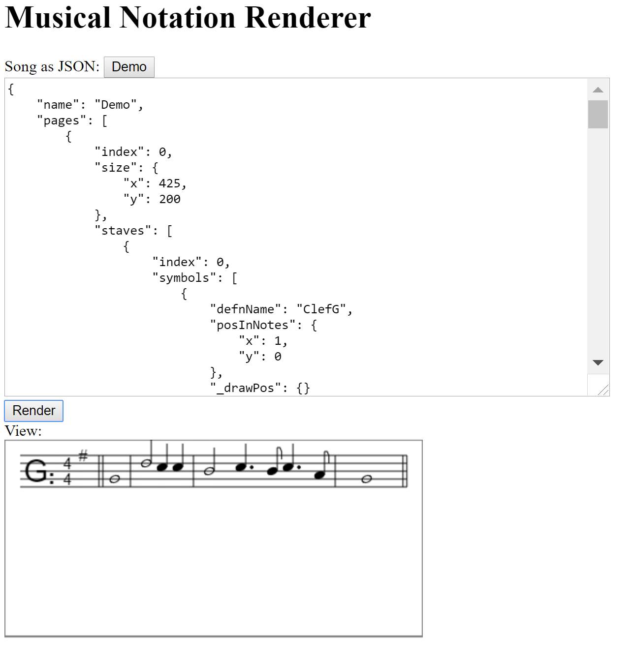 A Music Notation Renderer In JavaScript
